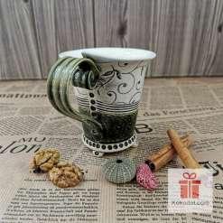 Чаша за кафе Елеганс - зелена