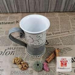 Чаша за чай Елеганс - сива