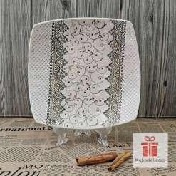 Керамична чиния Елеганс - голяма коприна