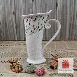 Чаша за кафе или чай Елеганс - синя феерия