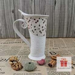 Чаша за кафе или чай Елеганс - червена феерия