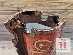 Керамична червена ваза - голяма - Ориент