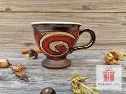 Червена чаша за еспресо - Ориент