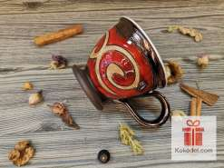 Червена чаша за кафе - Ориент