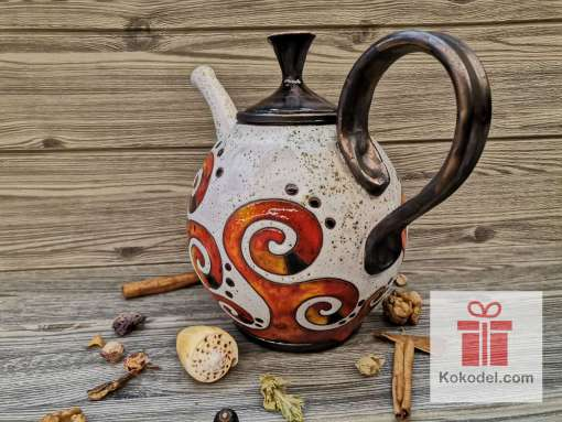 Керамичен чайник Огън