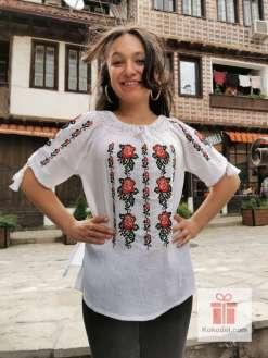 Бродирана риза Рози 05