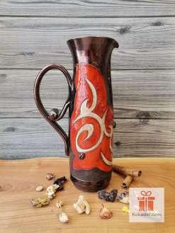 Керамична червена кана - Ориент