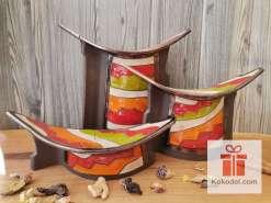 Керамичен свещник (с карфица за забождане) – Черга