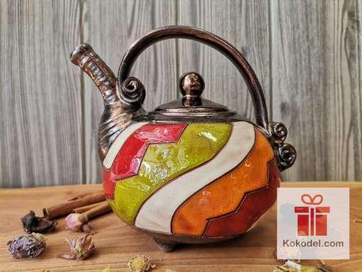 Керамичен малък чайник Черга –