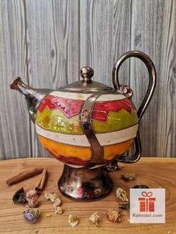 Керамичен голям чайник Черга