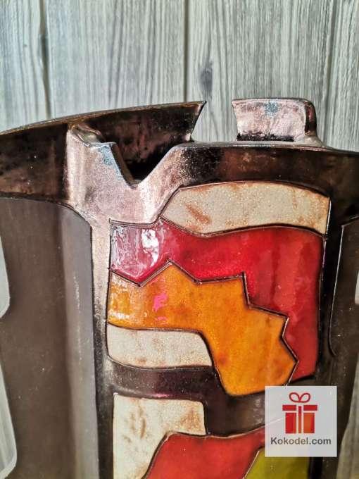 Висока керамична ваза Черга 43см.