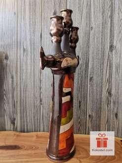 Керамичен висок свещник Черга