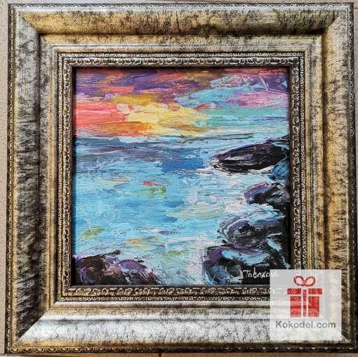 Рисувана картина Море и залез