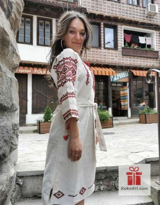 Ръчно бродирана рокля Шевици 013