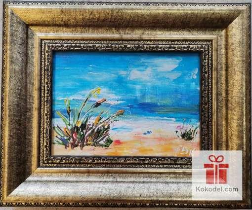 Рисувана морска картина Плаж
