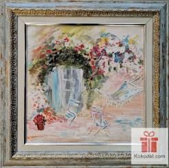 Рисувана абстрактна картина Хамак