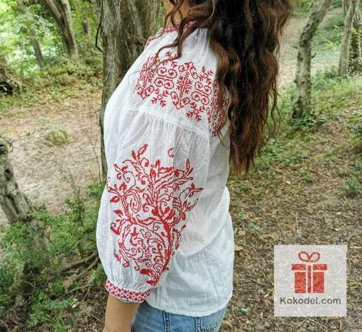 Бродирана риза шевици 018