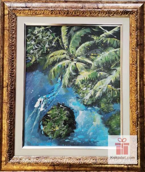 Рисувана картина Палми Тропик