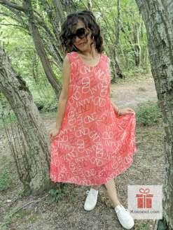 Ефирна рокля солей - цвят корал