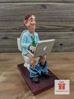 Статуетка Компютърен маниак - Забавен подарък за програмист