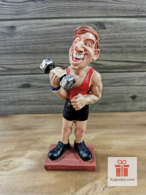 Статуетка Фитнес маниак - Забавен подарък за спортист