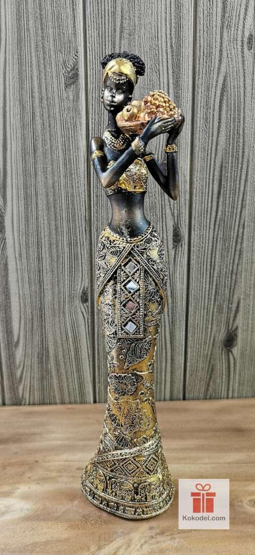 Статуетка фигура Африканка с плодове 1
