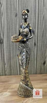 Статуетка фигура Африканка с плодове 2