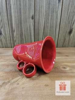 Смачкана червена чаша - голяма